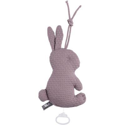 Peluche musicale lapin violet (30 cm)  par Baby's Only