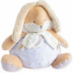 Peluche range pyjama blanche Lapin de sucre