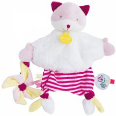 Doudou plat Tatoo chat et moulin à vent (25 cm)