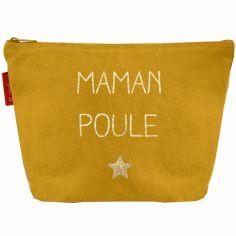 Pochette Fête des mères jaune moutarde (personnalisable)