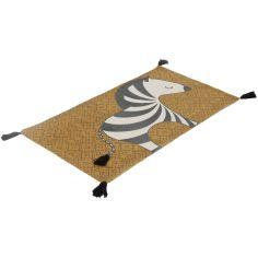 Tapis rectangulaire Clotaire le zèbre (120 cm)