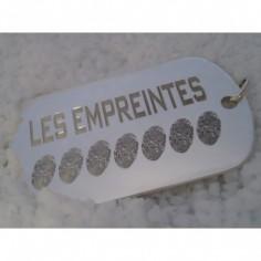 Pendentif empreinte plaque militaire avec bélière (argent 925°)