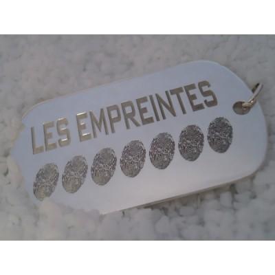 Pendentif empreinte plaque militaire avec bélière (argent 925°)   par Les Empreintes