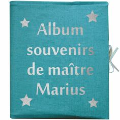 Album Photo Maîtresse personnalisable bleu canard (126 pages)