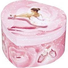 Boîte à bijoux musicale phosphorescente coeur Ballerine rose  par Trousselier