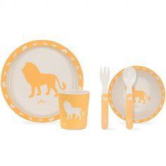 Coffret repas Safari jaune (5 pièces)
