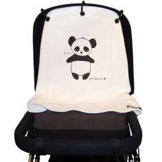 Protection pour poussette Baby Peace coton bio Panda noir et blanc