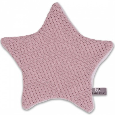Doudou plat étoile Robust Maille rose (30 x 30 cm) Baby's Only