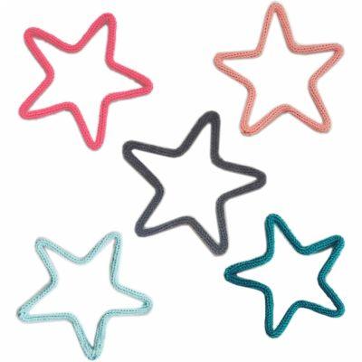Déco murale étoiles en tricotin coloris personnalisable (lot de 5)