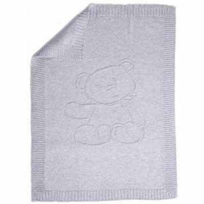 plaid en cachemire gris clair ours 75 x 100 cm par tartine et chocolat. Black Bedroom Furniture Sets. Home Design Ideas