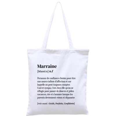 Sac à anses en coton bio Marraine  par Hindbag