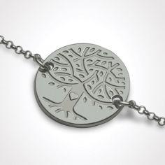 Bracelet sur chaîne LOVETREE personnalisable (or blanc 750°)