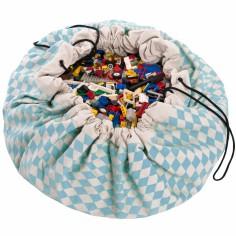 Sac à jouets 2 en 1 Diamond bleu