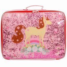 Petite valise à paillettes Cheval