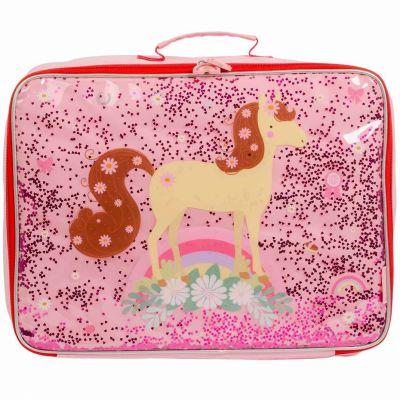 Petite valise à paillettes Cheval  par A Little Lovely Company