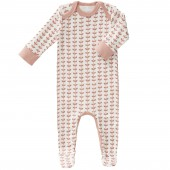 Pyjama léger Feuille rose (0-3 mois : 50 à 60 cm) - Fresk