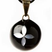 Bola noir nacré fleur - Bola