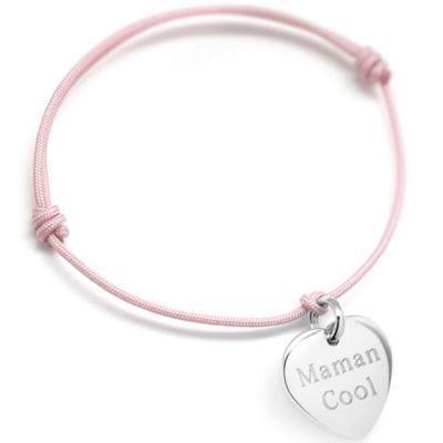 1ac9efb9966f1 Bracelet cordon Petits coeurs (argent 925°)