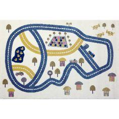 Tapis Circuit bleu (100 x 150 cm)