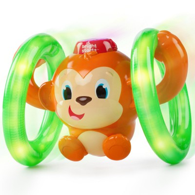 Jouet rouler petit singe Roll and Glow : Bright starts