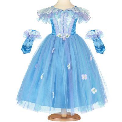 Robe de princesse bleue à fleurs (6-8 ans)  par Travis Designs
