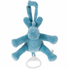 Doudou musical Paco turquoise (18 cm)