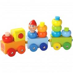 Train de construction ronds multicolores