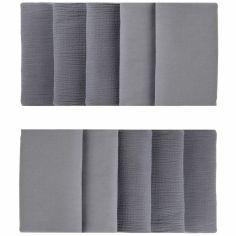Tour de lit modulable & respirant gris foncé Mix & Match (pour lits 60 x 120 cm et 70 x 140 cm)