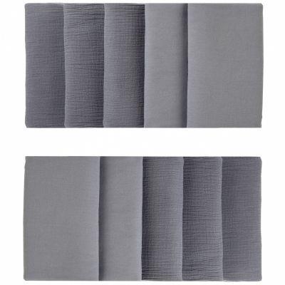 Tour de lit modulable & respirant gris foncé Mix & Match (pour lits 60 x 120 cm et 70 x 140 cm)  par BB & Co