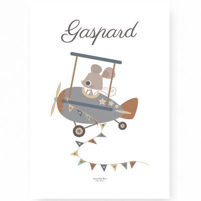 Affiche A4 Souris pilote (Personnalisable)  par Lutin Petit Pois
