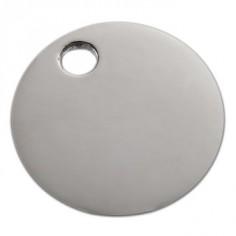 Bracelet empreinte pastille trou rond sur cordon (argent 925°)