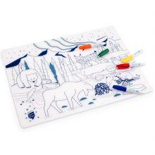 Set de table à colorier Boréal Wildlife  par Super Petit