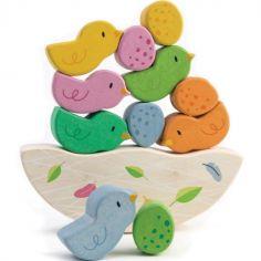 Jeu d'équilibre bébés oiseaux en bois