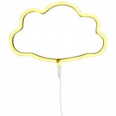 Lampe murale néon nuage jaune