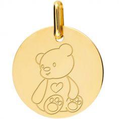 Médaille ourson personnalisable (or jaune 750°)