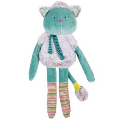 Peluche chat bleu Les Pachats (36 cm)
