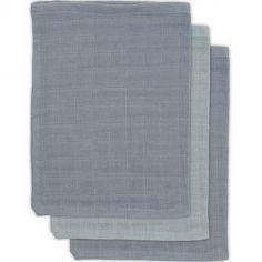 Lot de 3 gants de toilette en bambou storm grey gris