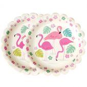 Assiette en carton Flamingo Bay (8 pièces) - REX