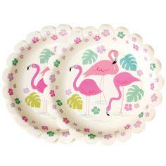 Assiette en carton Flamingo Bay (8 pièces)