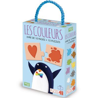 Livre et puzzle Les couleurs Sassi Junior