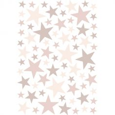 Stickers étoiles vieux rose (29,7 x 42 cm)