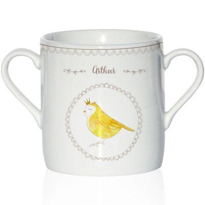 Tasse en porcelaine Oiseau (personnalisable)
