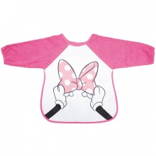Bavoir tablier à manches Minnie noeud rose  par Babycalin