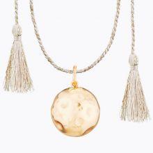 Bola sur cordon rose doré Moon Lune (plaqué or jaune)  par Ilado Paris