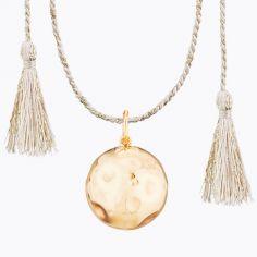 Bola sur cordon rose doré Moon Lune (plaqué or jaune)