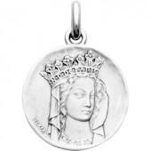Médaille Vierge Notre dame de Paris (or blanc 750°) - Becker