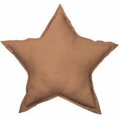 Coussin étoile chocolat Pure nature (45 cm)