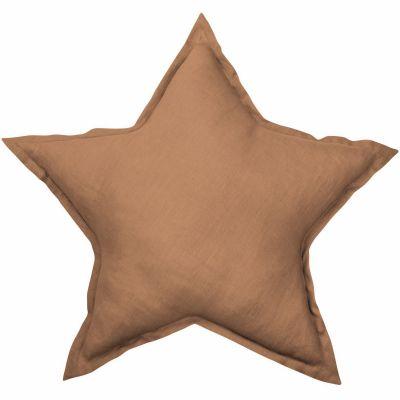 Coussin étoile chocolat Pure nature (45 cm)  par Cotton&Sweets
