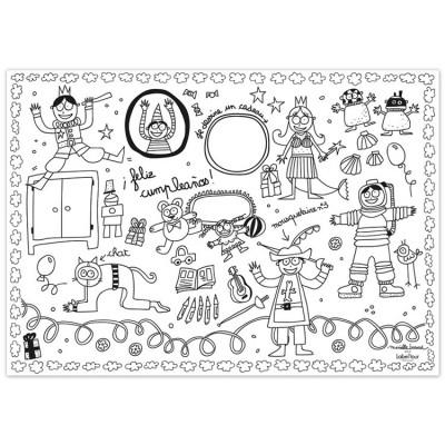 Coloriage Anniversaire Maman 36 Ans.Set De Table Papier A Colorier Anniversaire