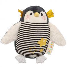 Hochet peluche Petit Pingouin Les Nanouks (11 cm)